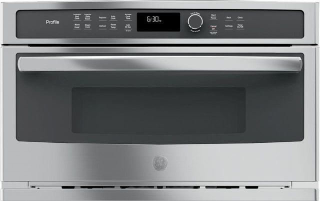 GE Profile™ 1.7 Cu. Ft. Stainless Steel Built In Microwave/Convection Oven-PWB7030SLSS