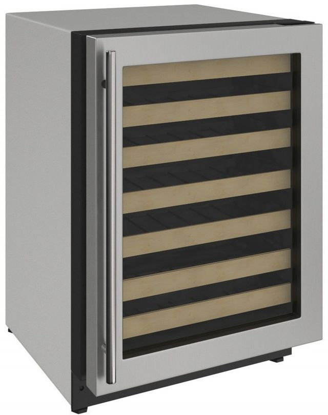 U-Line® 2000 Series 4.7 Cu. Ft. Stainless Steel Wine Cooler-2224WCS-00A