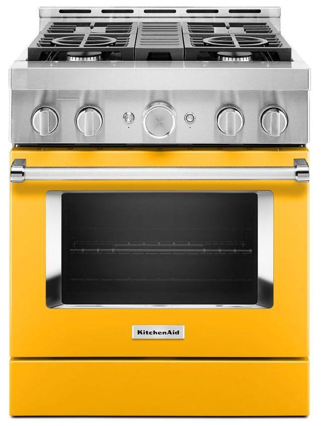 "KitchenAid® 30"" Yellow Pepper Smart Commercial-Style Gas Range-KFGC500JYP"