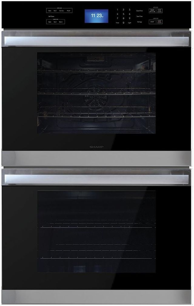 Sharp® 10.0 Cu. Ft. Stainless Steel Electric Double Oven Built In-SWB3052DS
