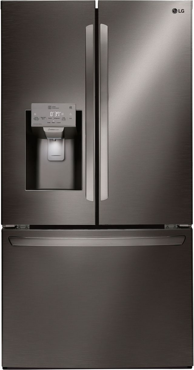 Réfrigérateur à portes françaises de 36 po LG® de 27,9 pi³ - Acier inoxydable noir-LFXS28968D