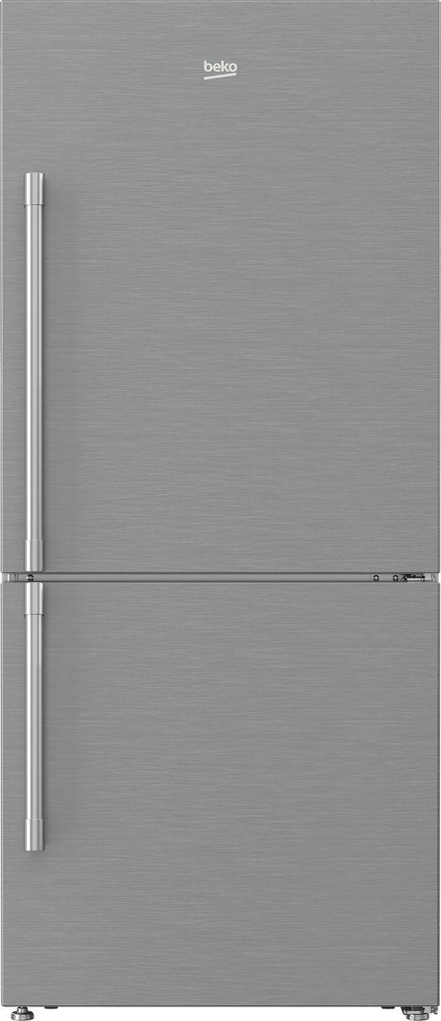 Beko 16.2 Cu. Ft. Fingerprint Free Stainless Steel Freestanding Bottom Freezer Refrigerator-BFBF3018SS