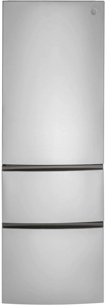 GE® 11.9 Cu. Ft. Stainless Steel Bottom Freezer Refrigerator-GLE12HSPSS-15-3140