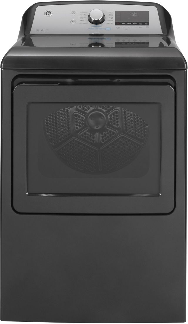 GE® 7.4 Cu. Ft. Diamond Gray Front Load Gas Dryer (S/D)-GTD84GCPNDG SD