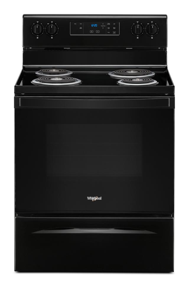 "Whirlpool® 30"" Black Free Standing Electric Range-WFC150M0JB"