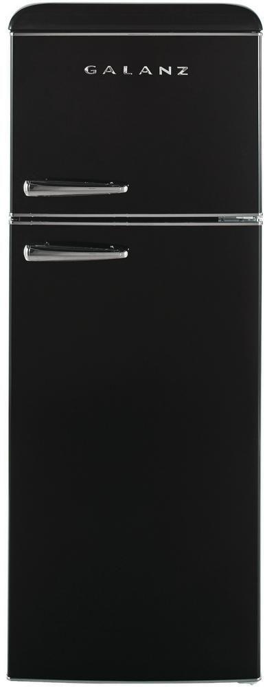 Galanz 7.6 Cu. Ft. Black Top Mount Freezer Refrigerator-GLR76TBKER