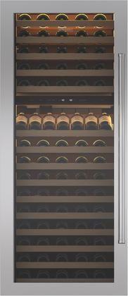 "Sub-Zero® Classic 30"" Stainless Steel Wine Storage Dual Flush Inset Door Panel with Pro Handle-7010274"