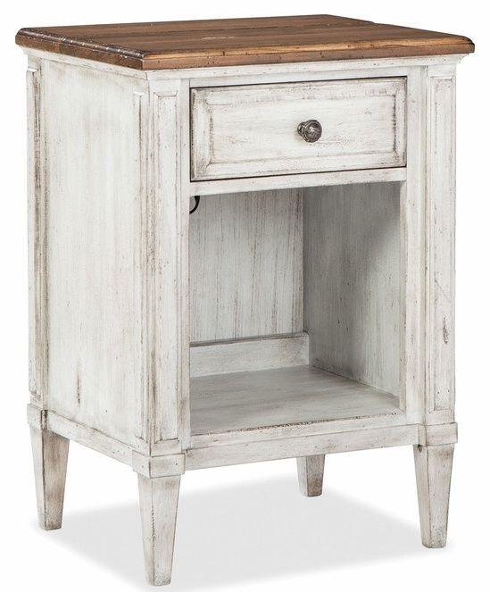 Table de nuit Escarpment, beige, Durham Furniture®-181-201