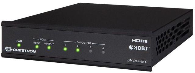 Crestron® 1:4 4K HDMI® to DM 8G+® & HDBaseT® Splitter-DM-DA4-4K-C