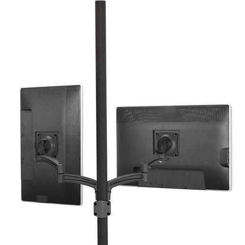 Chief® Kontour™ Black K2P Dual Monitor Pole Mount Articulating Arms-K2P220B