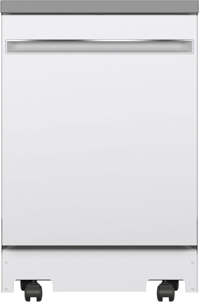 "GE® 24"" White Portable Dishwasher-GPT225SGLWW"