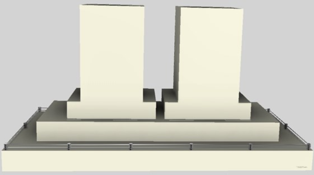 """Vent-A-Hood® 66"""" Contemporary Island Range Hood-Biscuit-CILH9-2+266 BT"""