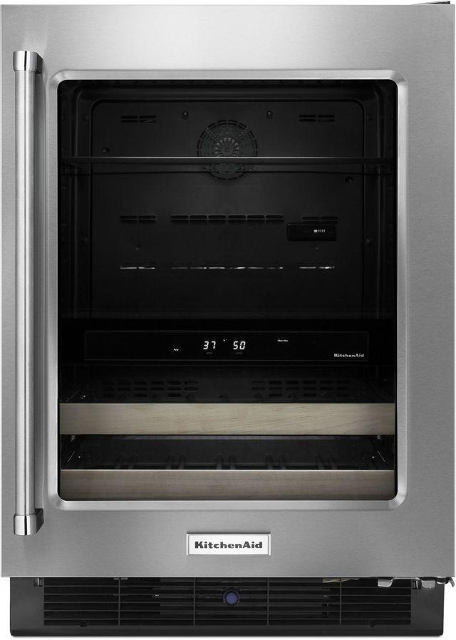 KitchenAid® 4.8 Cu. Ft. Stainless Steel Frame Beverage Center-KUBR204ESB