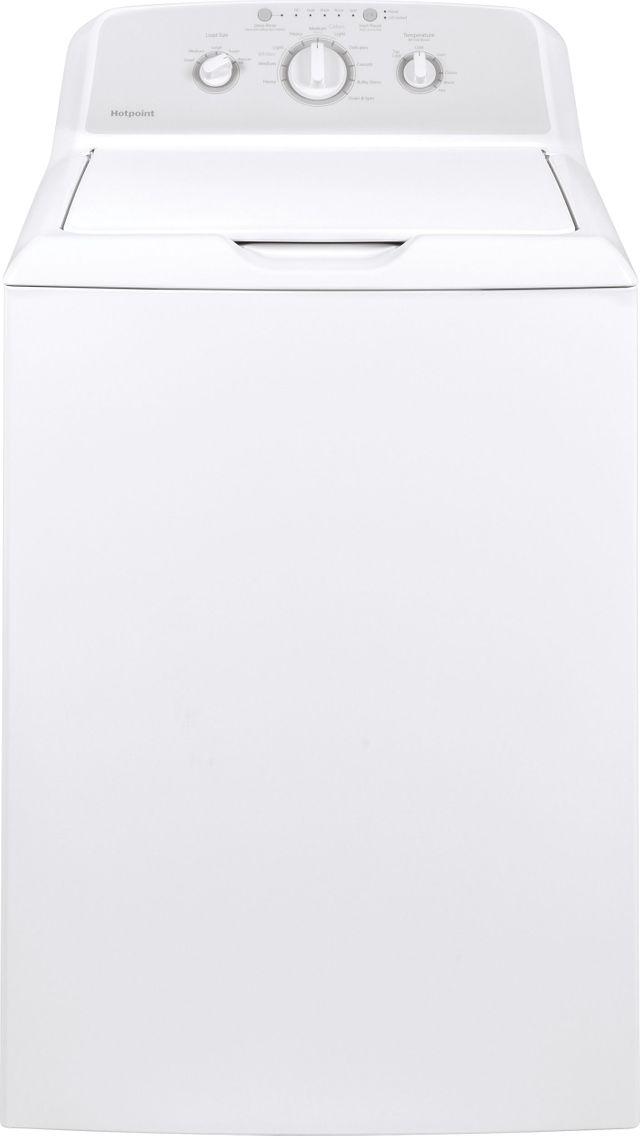 Hotpoint® 3.8 Cu. Ft. White Top Load Washer-HTW240ASKWS