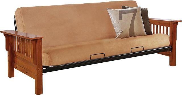Coaster® Oak Futon Frame With Slat Detail-4844