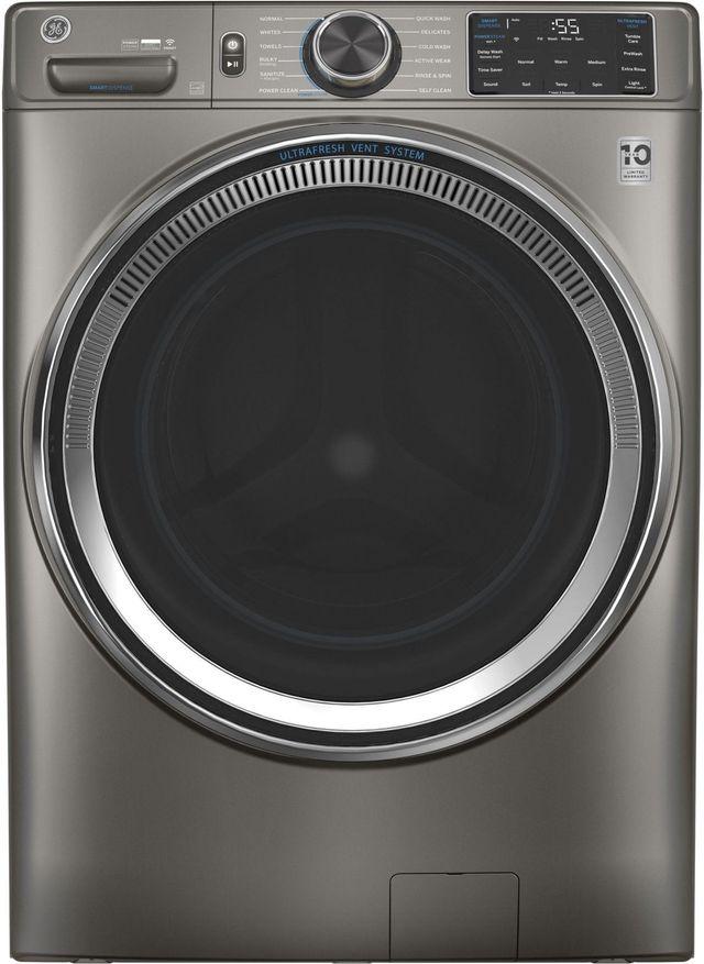 GE® 4.8 Cu. Ft. Satin Nickel Smart Front Load Washer-GFW650SPNSN
