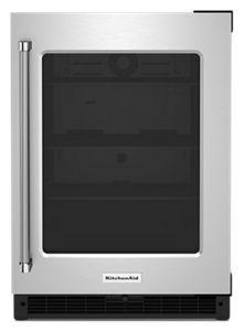 KitchenAid® 5.2 Cu. Ft. Stainless Steel Frame Beverage Center-KURR214KSB
