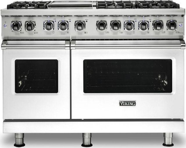 "Viking® Professional 5 Series 48"" Pro Style Dual Fuel Range-White-VDR5486GWH"