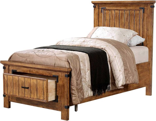Coaster® Brenner Rustic Honey Twin Storage Bed-205260T