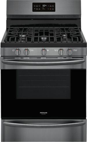 "Frigidaire Gallery® 30"" Black Stainless Steel Free Standing Gas Range-GCRG3038AD"