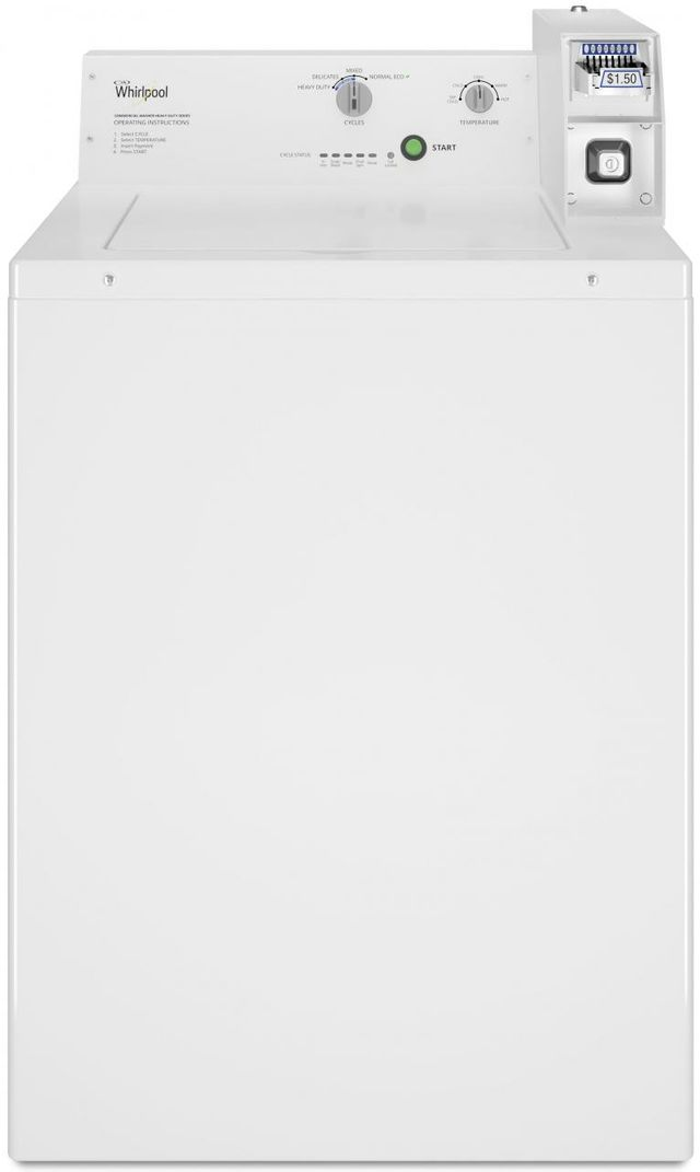 Whirlpool® Commercial 3.27 Cu. Ft. White Top Load Washer-CAE2745FQ