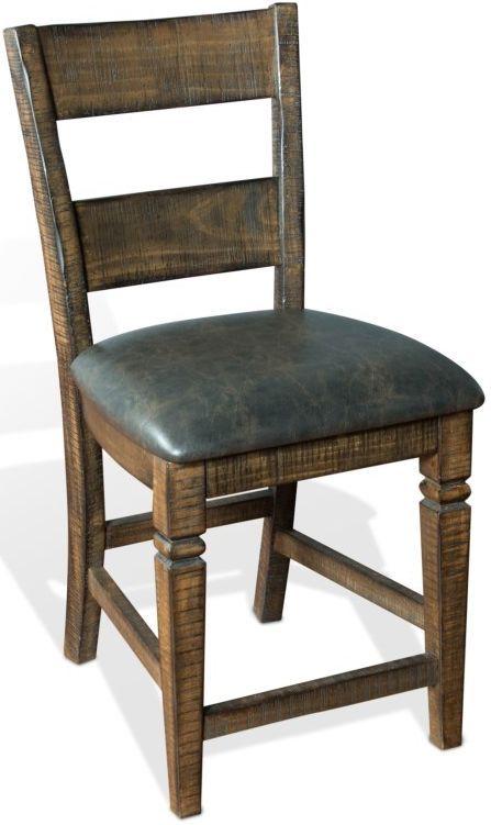 Sunny Designs Homestead Tobacco Leaf Ladderback Barstool-1429TL2-24
