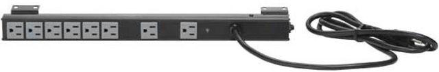 Sanus® Component Series Black Vertical Power Strip and Surge Protector-CAPS12-B1