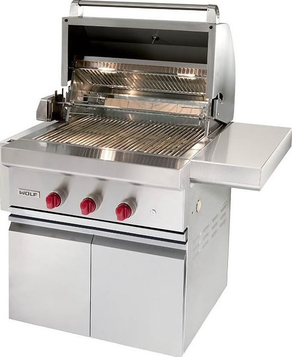 """Wolf® 30"""" Grill Cart-Stainless Steel-CART30"""