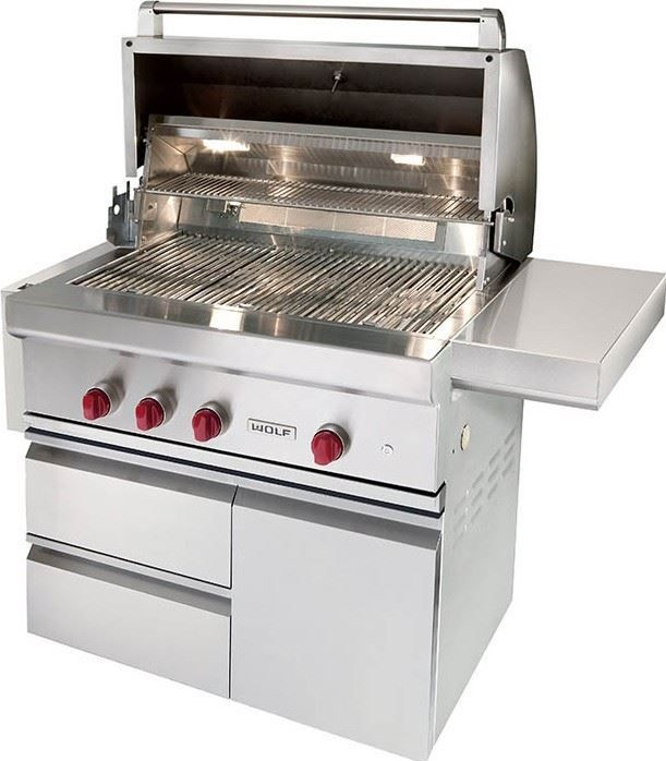 """Wolf® 36"""" Grill Cart-Stainless Steel-CART36"""