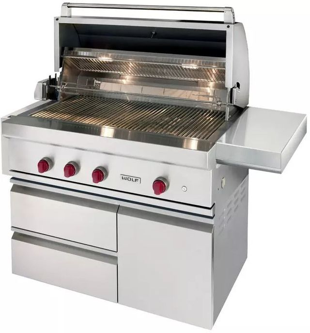 """Wolf® 42"""" Grill Cart-Stainless Steel-CART42"""