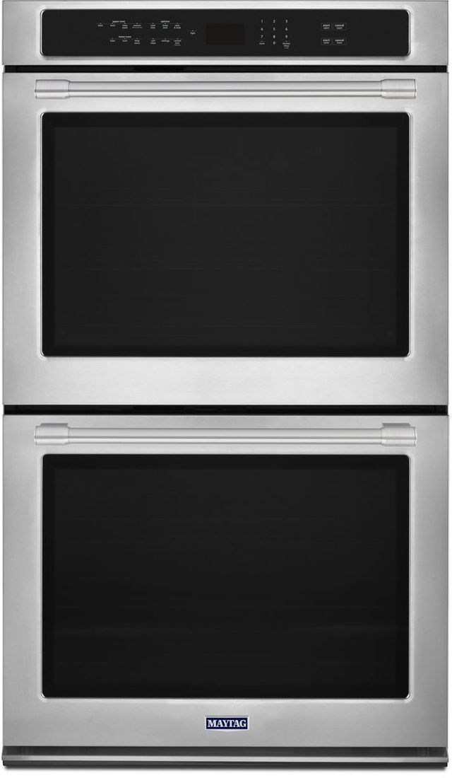 """Maytag® 30"""" Fingerprint Resistant Stainless Steel Electric Double Oven Built In-MEW9630FZ"""