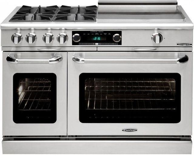 """Capital Connoisseurian 48"""" Stainless Steel Free Standing Dual Fuel Range-COB484GGL"""