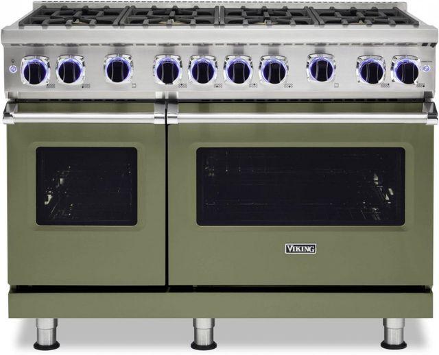 "Viking® 7 Series 48"" Cypress Green Pro Style Natural Gas Range-VGR74828BCY"