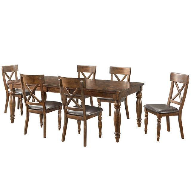 Intercon Kingston Raisin Butterfly Leaf Dining Table-KG-TA-4290B-RAI-C