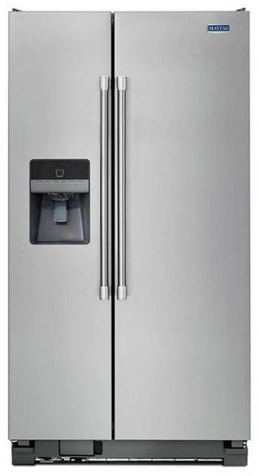Maytag® 25 Cu. Ft. Side-By-Side Refrigerator-Stainless Steel-MSF25D4MDM