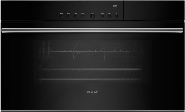 """Wolf® M Series 30"""" Black Contemporary Convection Steam Oven-CSO30CM/B/TH"""