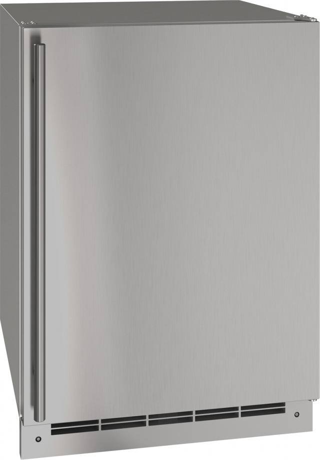 """U-Line® 24"""" Stainless Solid Outdoor Refrigerator-UORE124-SS01A"""