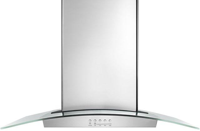 "Maytag® 36"" Stainless Steel Modern Glass Island Mount Range Hood-WVI75UC6DS"
