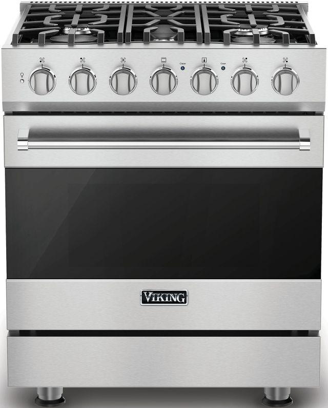 "Viking® 3 Series 30"" Freestanding Dual Fuel Range-Stainless Steel-RVDR33025BSSLP"