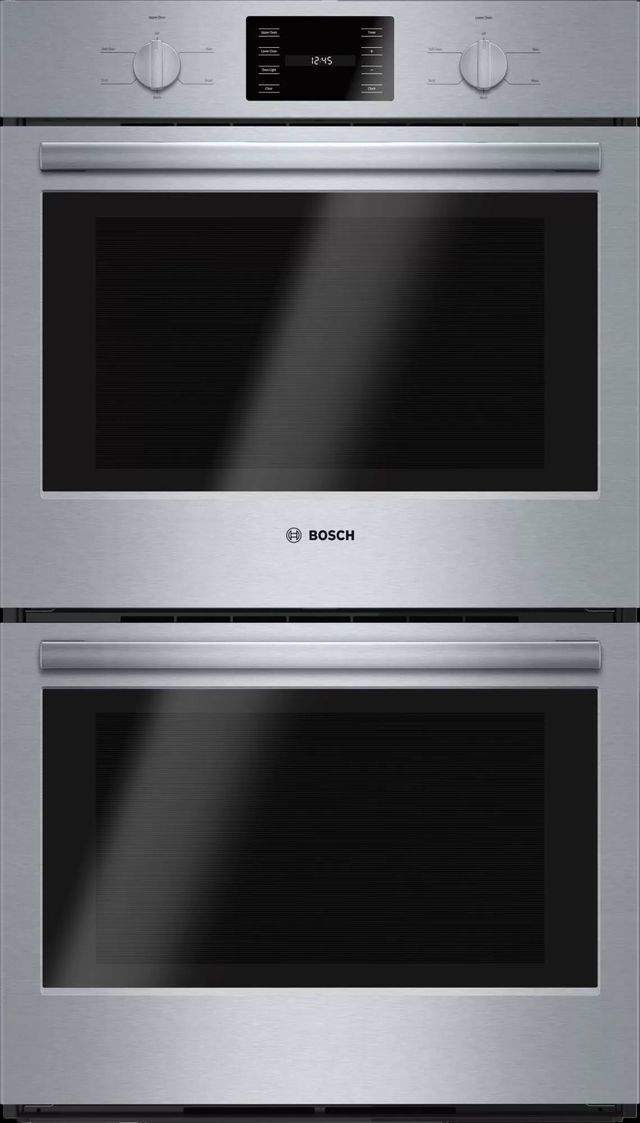 """Bosch 500 Series 30"""" Electric Double Oven Built In-Stainless Steel-HBL5551UC"""