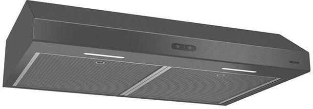 "Broan® Glacier BCDF1 Series 30"" Under Cabinet Range Hood-Black Stainless Steel-BCDF130BLS"