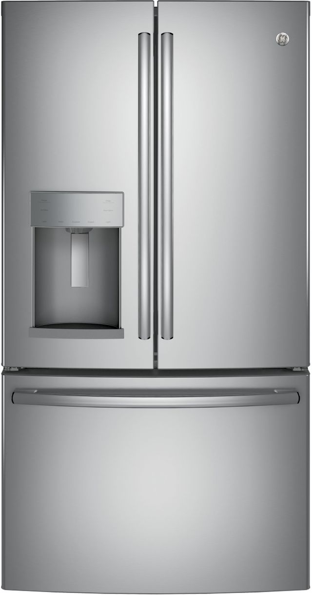 GE® 27.77 Cu. Ft. Stainless Steel French Door Refrigerator-GFD28GYNFS