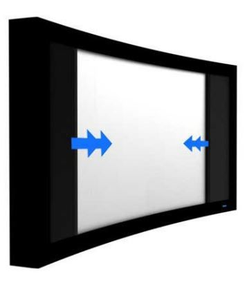 Stewart Filmscreen CineCurve Fixed Frame Screen System-CineCurve