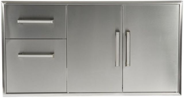Coyote Outdoor Living Two Drawer Cabinet And Double Access Doors-Stainless Steel-CCD-2DC