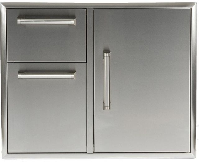"""Coyote Outdoor Living 31"""" Door And Drawers Cabinet-Stainless Steel-CCD-2DC31"""