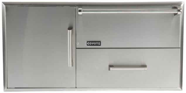 Coyote Outdoor Living Warming Drawer And Access Doors-Stainless Steel-CCD-WD