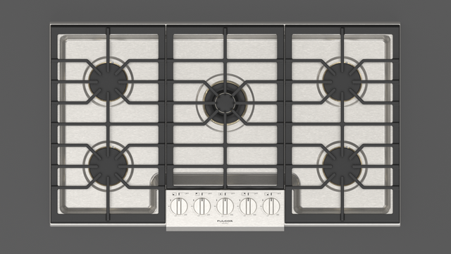 """Fulgor Milano Sofia 36"""" Stainless Steel Professional Gas Cooktop-F6PGK365S1"""