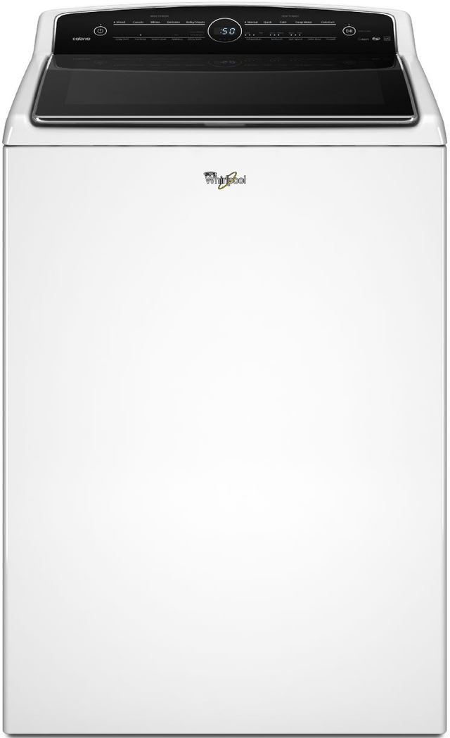 Whirlpool® Cabrio® 5.3 Cu. Ft. White Steam High Efficiency Top Load Washer-WTW8500DW
