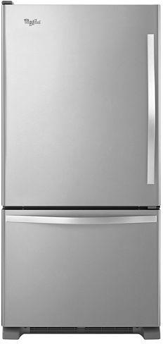 Réfrigérateur à congélateur inférieur de 30 po Whirlpool® de 18,7 pi³ - Acier inoxydable monochromatique-WRB329LFBM