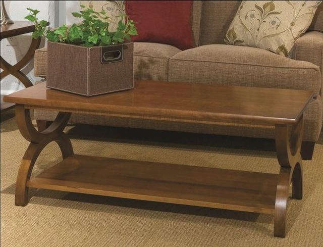 Durham Furniture Solid Accents Cherry Mist Transitional Cocktail Table-900-503D